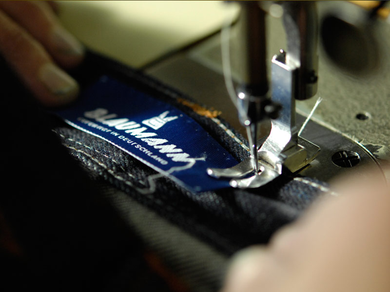 blaumann jeans denim long john blog raw rigid left hand kuroki japan fabric redline redlisting indigo blue leather patch germany (10)