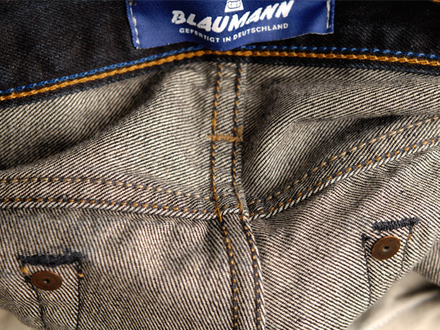 blaumann jeans denim long john blog raw rigid left hand kuroki japan fabric redline redlisting indigo blue leather patch germany (11)