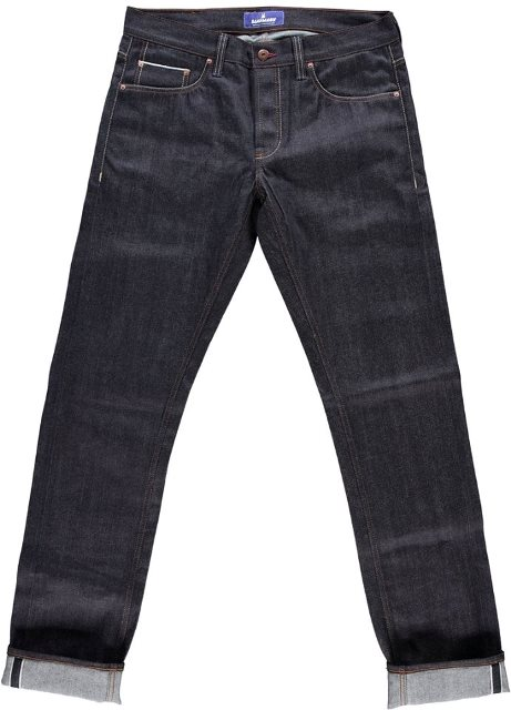 blaumann jeans denim long john blog raw rigid left hand kuroki japan fabric redline redlisting indigo blue leather patch germany (3)
