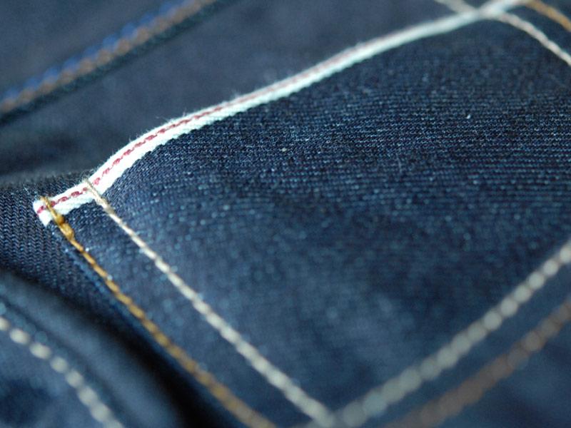 blaumann jeans denim long john blog raw rigid left hand kuroki japan fabric redline redlisting indigo blue leather patch germany (6)