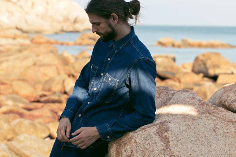 bleu de paname clothing france long john blog indigo blue jeans denim shirts shirt tshirt winter autumn fall 2015 paris parijs lookbook collection (4)