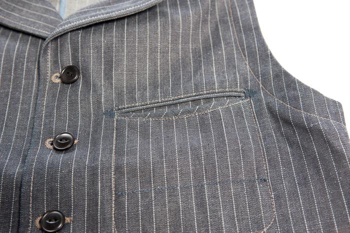 blue blanket waist coat FABRIC JP 03  Fit Slim long john blog denim jeans antonio di battista italy motor motors bikes jackets jack used vintage original made handmade blue indigo (3)
