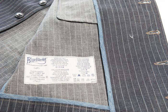 blue blanket waist coat FABRIC JP 03  Fit Slim long john blog denim jeans antonio di battista italy motor motors bikes jackets jack used vintage original made handmade blue indigo (7)