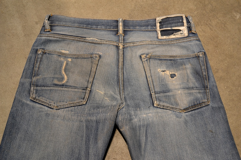 bob rijnders best of brands hoogland long john blog denim jeans butcher of blue worn-out holland repair patched hook blue unwashed selvage selvedge rigid torn patch 2 years old rinse 5 pocket  (13)