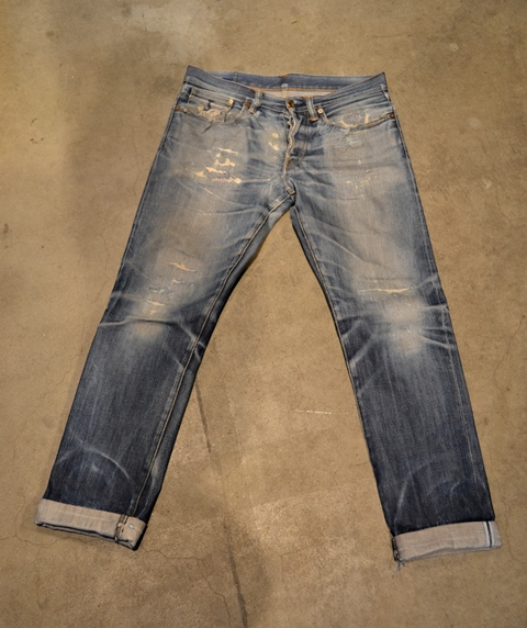 bob rijnders best of brands hoogland long john blog denim jeans butcher of blue worn-out holland repair patched hook blue unwashed selvage selvedge rigid torn patch 2 years old rinse 5 pocket  (3)