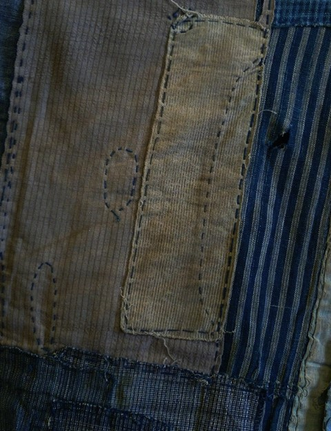 boro japan long john blog authentic patch repair clothing blue indigo workwear fisherman farmers  (8)