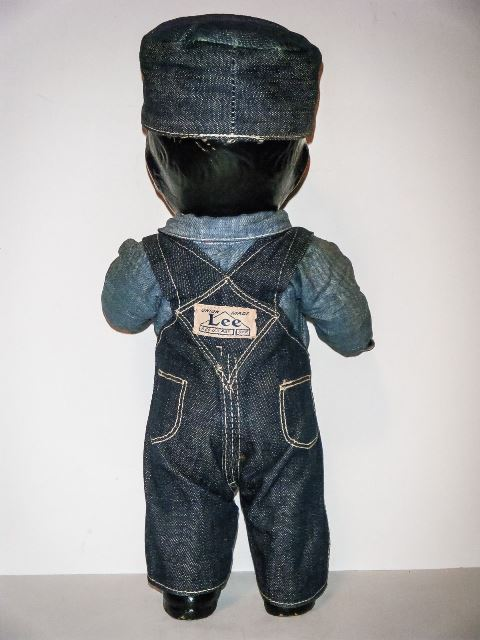 buddy lee black long john blog rare vintage original item lee jeans usa western doll 1920 (2)