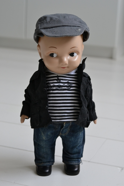buddy lee jeans denim long john blog doll 1920 promo material not for sale limited edition authentic david henri lee plastic original usa special fabric blue (2)
