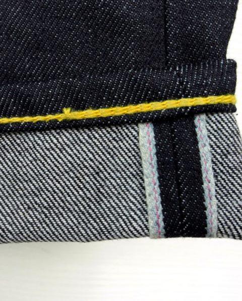 companion denim longjohn blogger blog joel 012N-5 bespoke jeans handmade selvage selvedge rainbow fabric aged ageing fades fade blue spijkerbroek blauw goud (7)