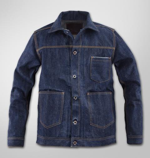 deadstock resurrection robert trucket jacket long john blog peter denim jeans selvage suger cane fabric holland handmade indigo blue blauw jas 2015 collection  (1)