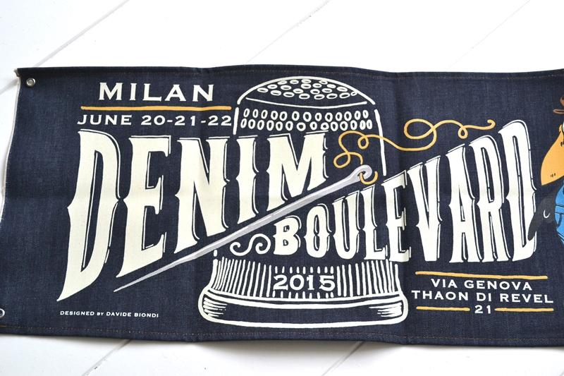 denim boulevard banner window long john blog jeans selvage selvedge davide biondi graphic design farmer candiani italy mill event fair milan 2015 italy  (4)