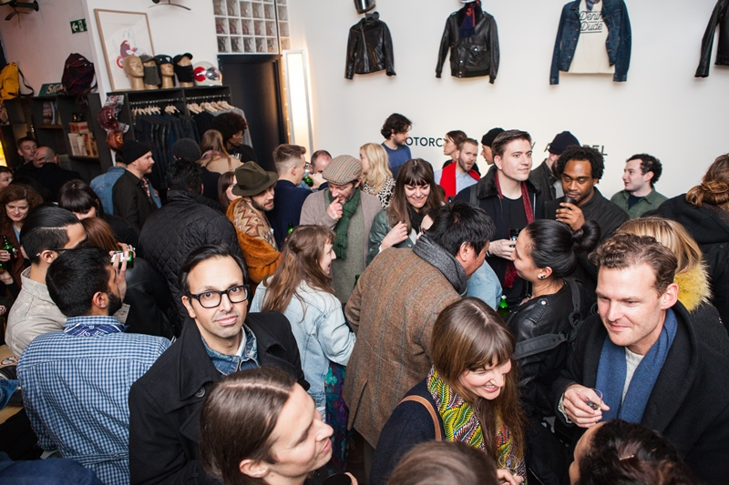denim dudes event bolt london store long john blog amy leverton book launch shop jeans boys selvage selvedge vintage collectors designers vedett sailor jerry rum beer music people dude bandana (15)