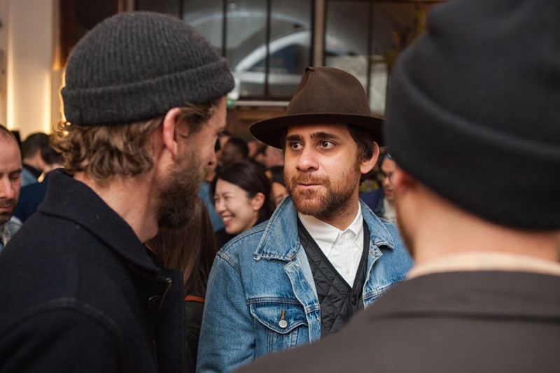 denim dudes event bolt london store long john blog amy leverton book launch shop jeans boys selvage selvedge vintage collectors designers vedett sailor jerry rum beer music people dude bandana (16)