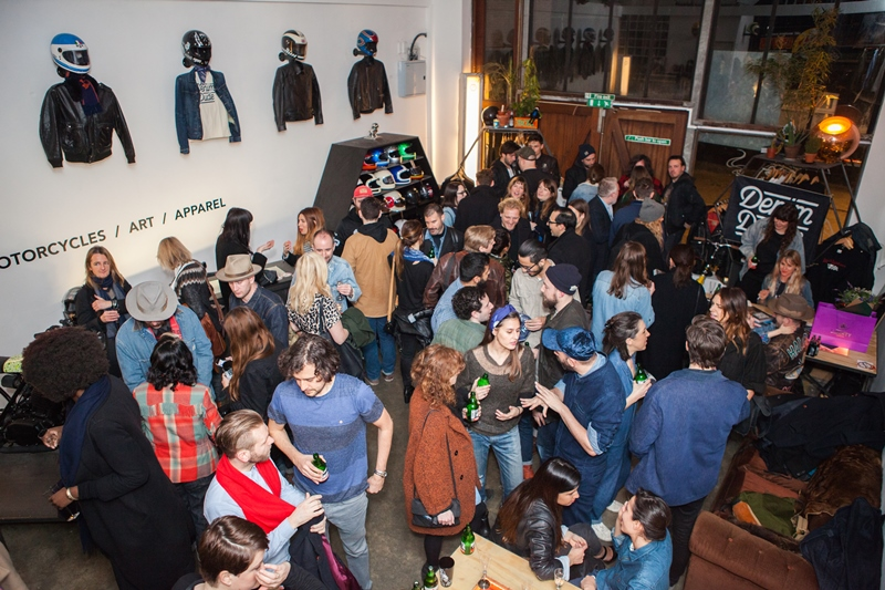 denim dudes event bolt london store long john blog amy leverton book launch shop jeans boys selvage selvedge vintage collectors designers vedett sailor jerry rum beer music people dude bandana (5)