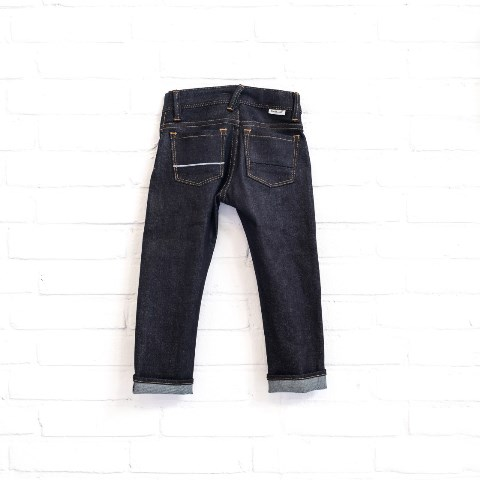 denimlab kids jeans denim long john blog selvage denim selvedge rigid stretch rigid unwashed dark blue (8)