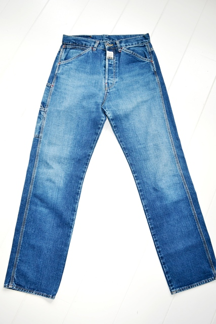 diesel old glory vintage long john blog labour denim jeans italy made 1994 blue indigo renzo rosso collection non selvage selvedge leather patch  (11)