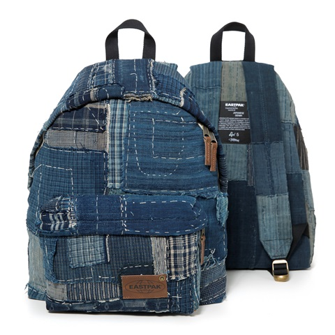 eastpak long john kuroki boro vintage special limited edition 2016 bag rugzak blue indigo patched patches east pak selvedge selvage  (2)