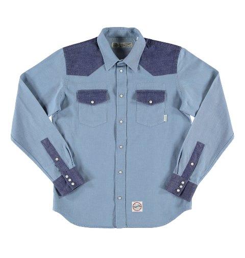 eat dust western shirt long john blog denim 70tis 1970 two tone colour dark blue light blue motors motor bikes bike indigo keith hioco rob harmsen spring summer 2016 (4)