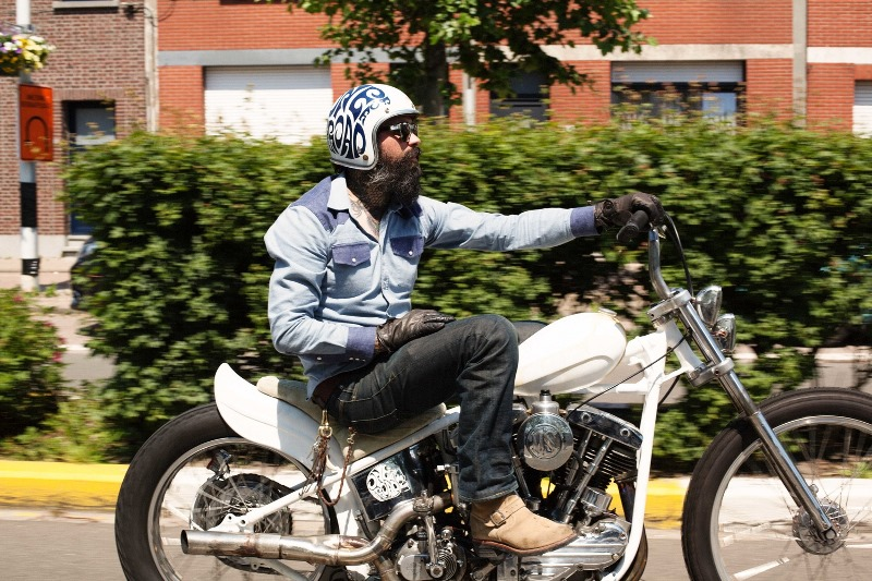 eat dust western shirt long john blog denim 70tis 1970 two tone colour dark blue light blue motors motor bikes bike indigo keith hioco rob harmsen spring summer 2016 (6)