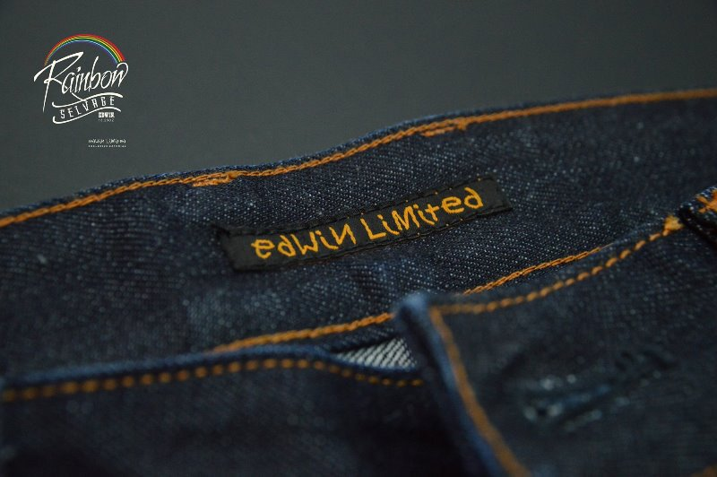edwin jeans long john blog selvage selvedge rainbow colours 2016 limited edition special leather patch label natural blue indigo edwin malysia (8)