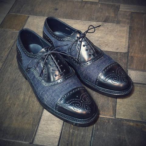 evisu jeans genes long john blog footwear shoes jeans denim wingtip classic men blue classic dandy herenschoen spijkerstof  (3)