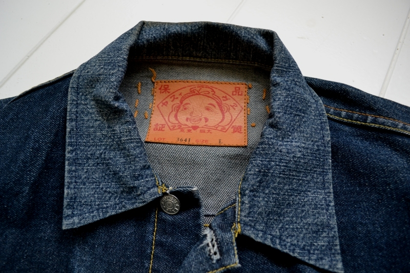 evisu jeans lot 3641 denim jack selvage plain red line long john blog wouter munnichs private collection blue rigid raw japan europe worn-out faded seagull painted stiching single stich leather patch  (7)