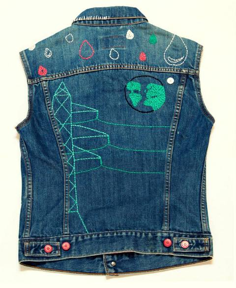 facing west lizzie kroeze levi's trucker jacket type 3 long john blog jeans denim blue handmade sashiko stiching japanese embroidery unique limited edition special amsterdam one of a kind  (3)