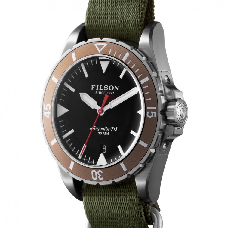 filson the dutch harbor watch long john longjohnblog horloge klok outdoor army military denim watch brand usa (3)
