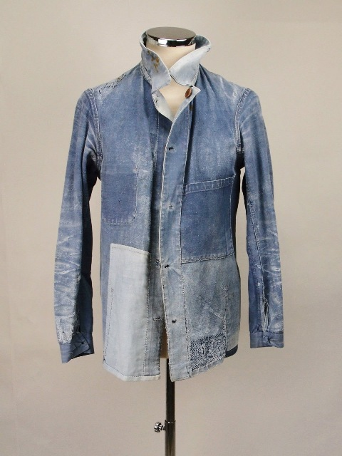 french workwear jacket vintage long john blog sanforized old authentic blue worn-out farmers rigid raw selvage france viva old  (3)