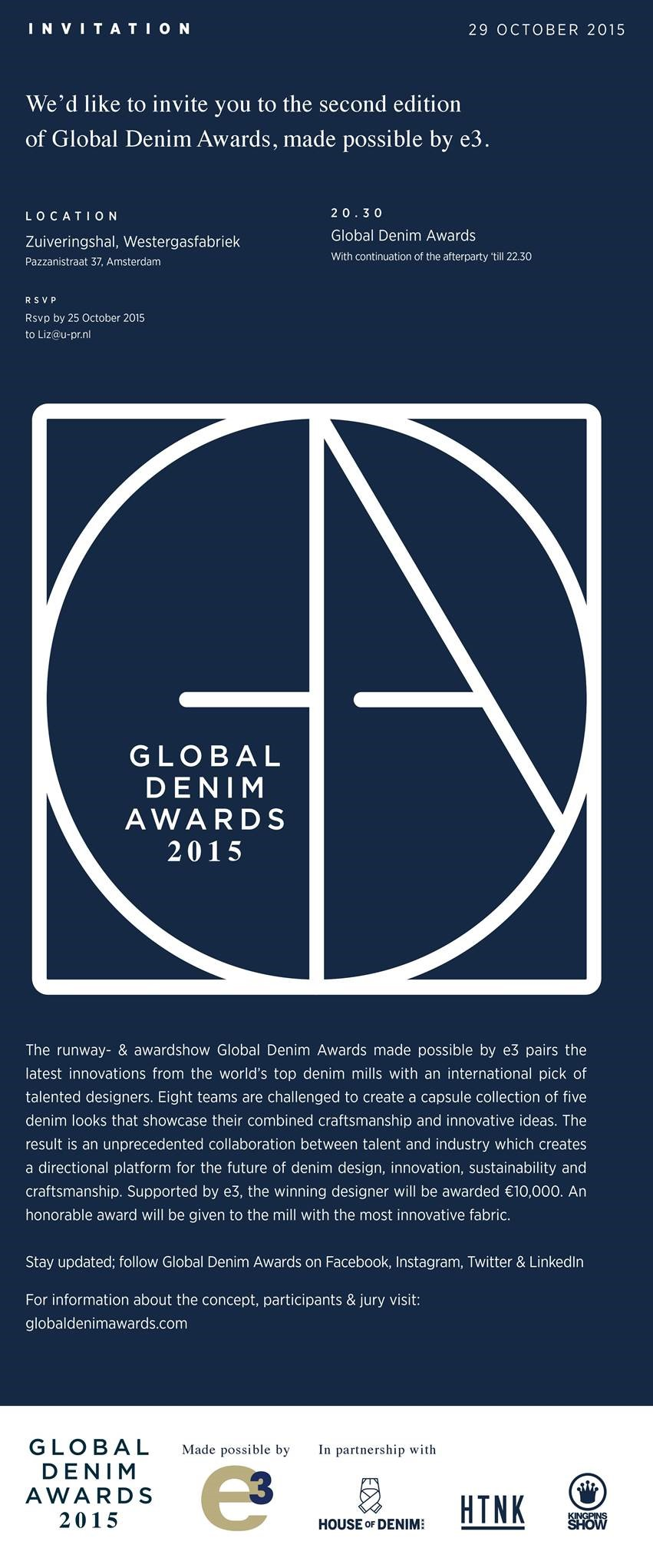 global denim awards long john blog jeans denim event amsterdam invitation 2015 westergasfabriek selvage selvedge