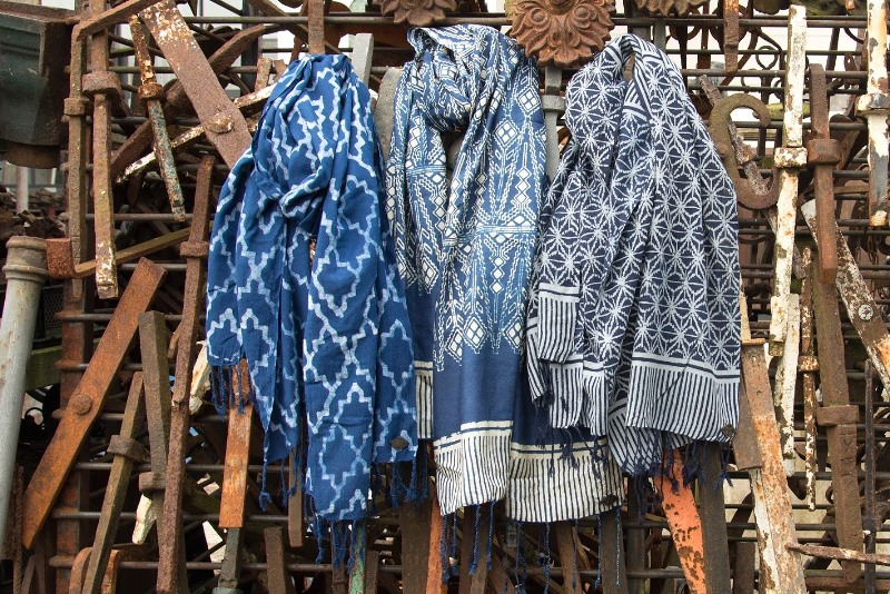 indigo people spring 2017 summer longjohnblog long john indigo blue scarf scarves kiat ikat handloom shuttle loom handmade natural indigo patterns (3)