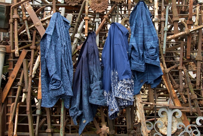 indigo people spring 2017 summer longjohnblog long john indigo blue scarf scarves kiat ikat handloom shuttle loom handmade natural indigo patterns (4)