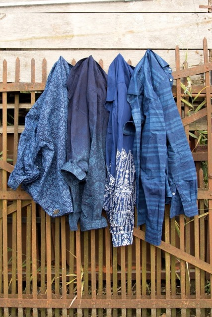 indigo people spring 2017 summer longjohnblog long john indigo blue scarf scarves kiat ikat handloom shuttle loom handmade natural indigo patterns (5)