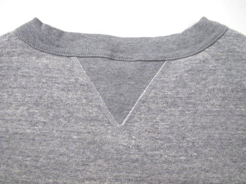 iron heart long john blog uk Heavy Loopwheeled Crew Neck Sweat sweater grey classic denim jeans blue rigid selvage selvedge chain stich cuffs usa american  ironheart  (1)