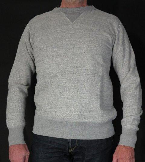 iron heart long john blog uk Heavy Loopwheeled Crew Neck Sweat sweater grey classic denim jeans blue rigid selvage selvedge chain stich cuffs usa american  ironheart  (3)