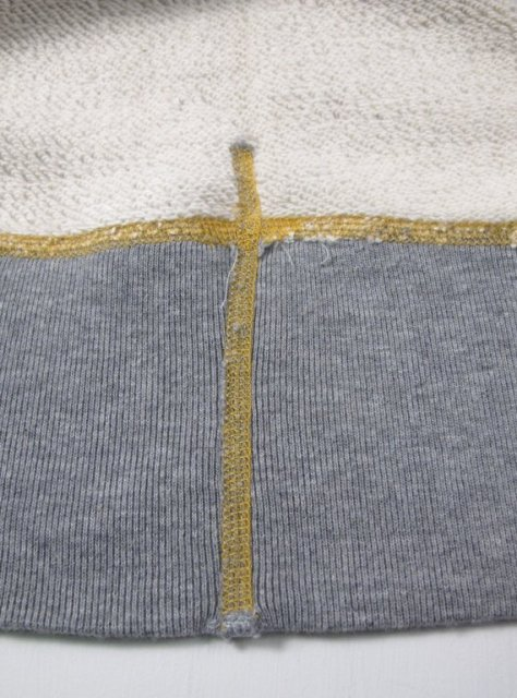 iron heart long john blog uk Heavy Loopwheeled Crew Neck Sweat sweater grey classic denim jeans blue rigid selvage selvedge chain stich cuffs usa american  ironheart  (4)