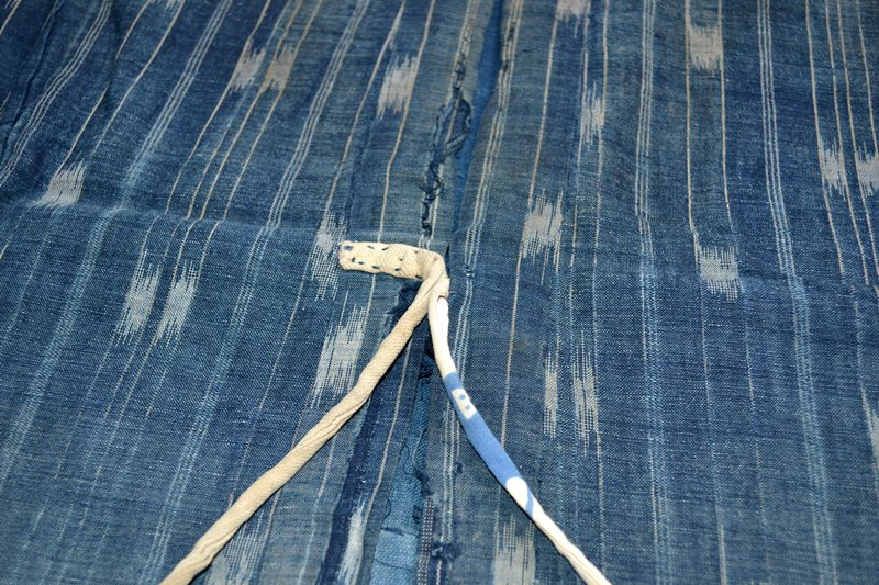 japan kimono longjohnblog long john blue indigo vintage authentic traditional naturalindigo handmade craftsmanship 1930 (2)