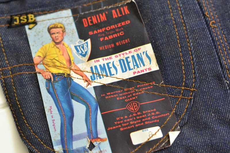 jsb vintage denim long john denim blog pair jeans pantalon rock and roll james dean 1950 made in belgium indigo (1)