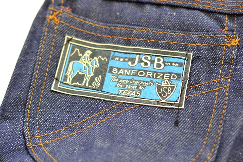 jsb vintage denim long john denim blog pair jeans pantalon rock and roll james dean 1950 made in belgium indigo (10)