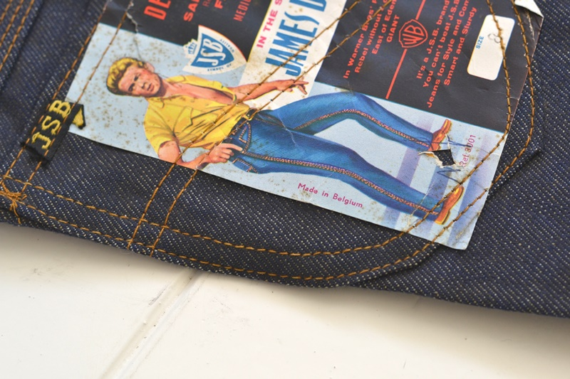 jsb vintage denim long john denim blog pair jeans pantalon rock and roll james dean 1950 made in belgium indigo (15)