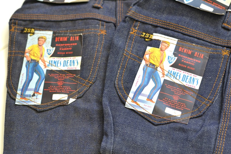 jsb vintage denim long john denim blog pair jeans pantalon rock and roll james dean 1950 made in belgium indigo (2)