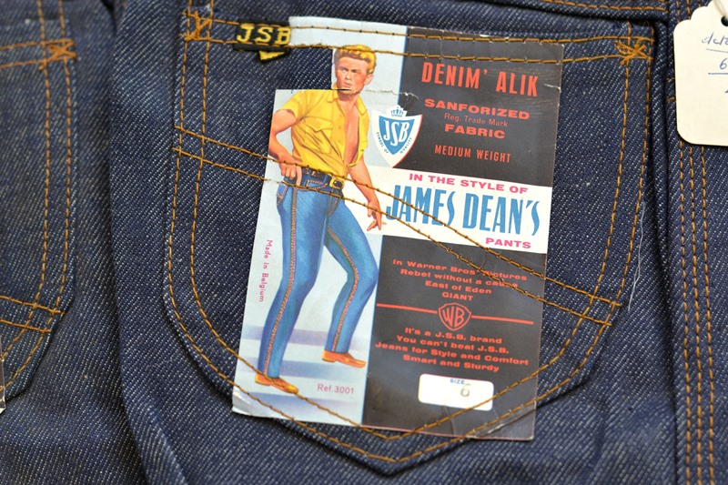 jsb vintage denim long john denim blog pair jeans pantalon rock and roll james dean 1950 made in belgium indigo (3)