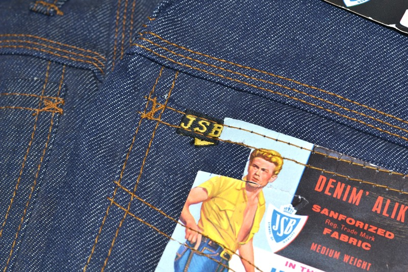 jsb vintage denim long john denim blog pair jeans pantalon rock and roll james dean 1950 made in belgium indigo (6)