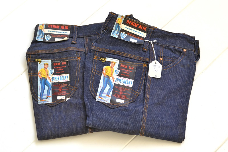 jsb vintage denim long john denim blog pair jeans pantalon rock and roll james dean 1950 made in belgium indigo