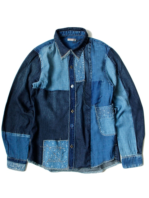 kapital japan long john blog denim jeans shirts jackets jack boro sashiko stitching embroidery handmade blue indigo spring summer 2016 (4)