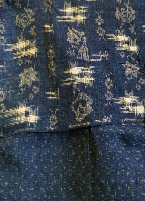 kimono japan long john blog blue workwear workers farmers blues indigo stitching sashiko rags blauw (6)