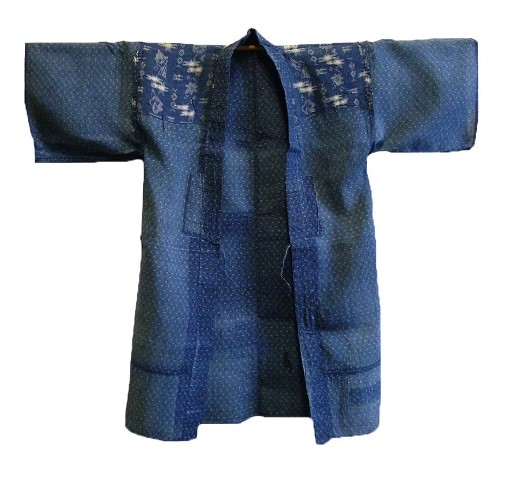 kimono japan long john blog blue workwear workers farmers blues indigo stitching sashiko rags blauw (8)