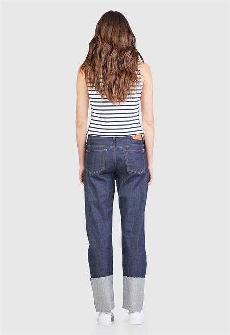 kings of indigo jeans denim longjohnblog indigo amsterdam holland women ladies spijkerbroek blue blauw 5 pocket patched repairs white shirt (1)
