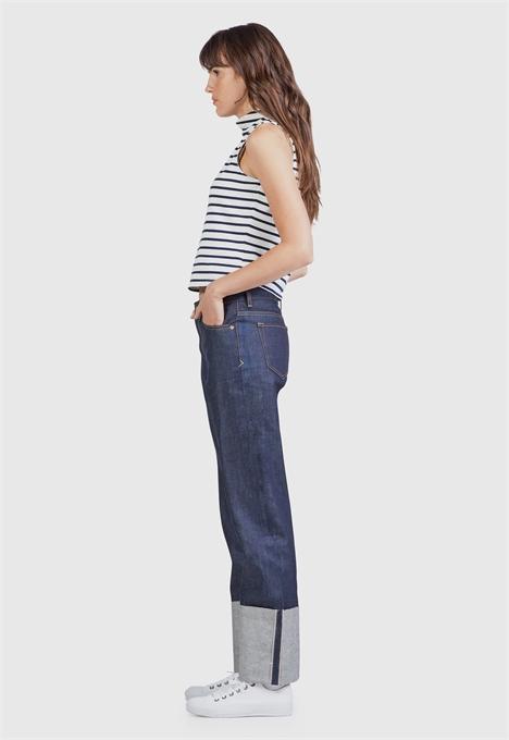 kings of indigo jeans denim longjohnblog indigo amsterdam holland women ladies spijkerbroek blue blauw 5 pocket patched repairs white shirt (4)