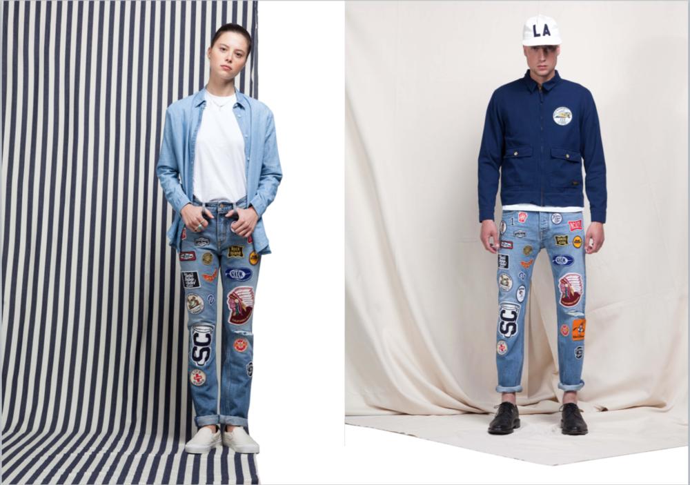 kings of indigo koi long john blog spring summer 2016 lookbook collection tony tonnaer blue indigo raw selvage selvedge workwear stripes bib overall dress women men amsterdam holland design pride (5)